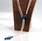 mosaic bead necklace with extendable chain