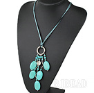 19.5 inches turquoise necklace with lobster clasp