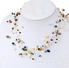 17.5 inches fantastic seven colored pearl necklace with lobster clasp under $ 40