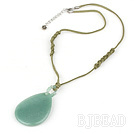 17 inches simple aventurine pendant necklace with lobster clasp