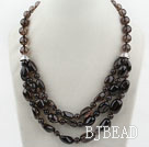 Assorted Natural Smoky Quartz Crystal Necklace under $ 40