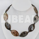 chunky style agate necklace with moonlight clasp