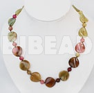18 inches three colored jade necklace