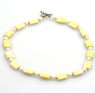 18 inches 14*18mm yellow opal necklace with moonlight clasp