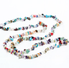 Fashion Long Style Multi Gemstone Chips Necklace under $ 5