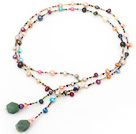 fashion long style dyed colorful pearl necklace
