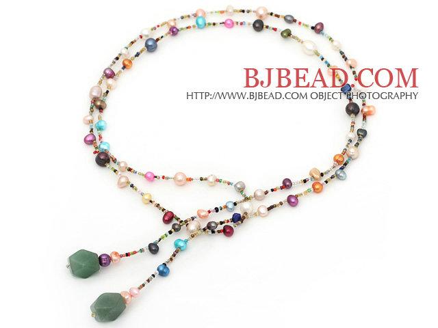 Collana di Perle Colorate