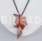 natural agate cluster pendant necklace