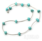 18 inches 6-12mm turquoise necklace with lobster clasp under $ 40