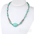 18 inches single strand turquoise necklace