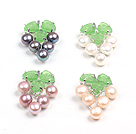 4 Pcs Fancy Grape Shape Natural Freshwater Pearl Pendant(No Chain)