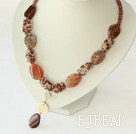 crytal and agate necklace with toggle clasp