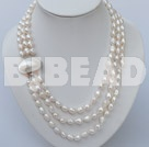 three strand white pearl necklace
