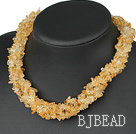 multi strand 6mm citrine necklace