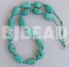 burst pattern turquoise necklace with toggle clasp