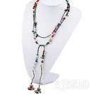 hot multi color pearl and stone necklace