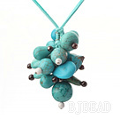 turquoise and garnet necklace