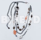smoky quartze metal chain necklace