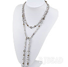pearl czech crystal necklace