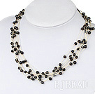 multi strand black pearl necklace