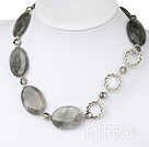 smoky like crystal necklace