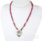 dyed pearl tibet silver flower necklace under $7