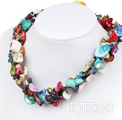 multi-color shell necklace under $ 40