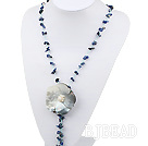 Sodalite shell necklace
