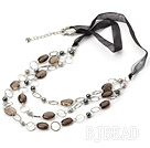 fashion smoky quartze necklace