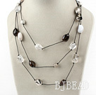fashion long style crystal and agate necklace