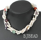 baroque pearl multi-stone necklace under $14