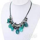 black pearl blue jade necklace