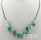 Simple Style Green Agate Necklace with Lobster Clasp under $ 40