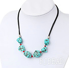 turquoise blood stone necklace