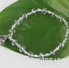 7.5 inches elastic gray crystal bracelet under $ 40