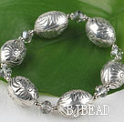7.5 inches elastic CCB silver like bracelet under $ 40