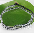 15.0 inches white 4mm manmade crystal wrap bracelet