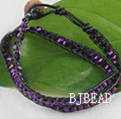 15.0 inches purple 4mm manmade crystal wrap bracelet under $5