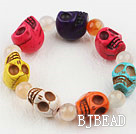 Multi Color Turquoise Skull Stretch Halloween Bracelet under $2.5