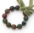 Burst Pattern Agate Beaded Bracelet with Ribbon