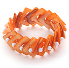 New Design Amethyest Elastic Bangle Bracelet