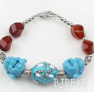 Carnelian and The Head of Buddha Bracelet