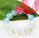 New Design Faceted 14mm Opal Stone Beaded Bracelet