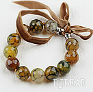 Faceted 14mm Fire Agate Beaded Bracelet