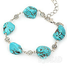 simple and fashion turquoise bracelet with lobster clasp
