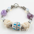 Amethyst and Buddha Head Lucky Bracelet