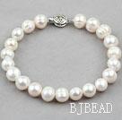 9-10mm White Freshwater Pearl Bridal Bracelet