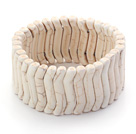 Bold Style Branch Shape White Howlite Stretch Bangle Bracelet