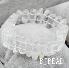 Natural White Crystal Elastic Bangle Bracelet under $12