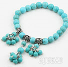 New Design Turquoise Beaded Elastic Bracelet